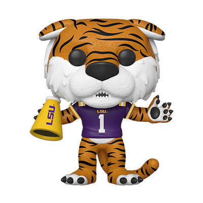 College Pop! Vinyl Figure LSU Mike the Tiger (Home Purple Jersey) [06]