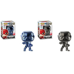 PREORDER Justice League Pop! Vinyl 2018 NYCC Chrome Flash Set [Fugitive Toys Exclusive]