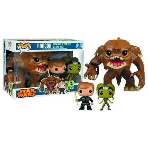 Star Wars Pop! Vinyl Figure 3 Pack (Rancor, Luke, and Oola)