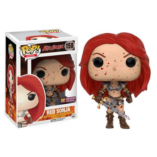 Heroes Pop! Vinyl Figure Red Sonja Bloody Exclusive [Red Sonja] [158]