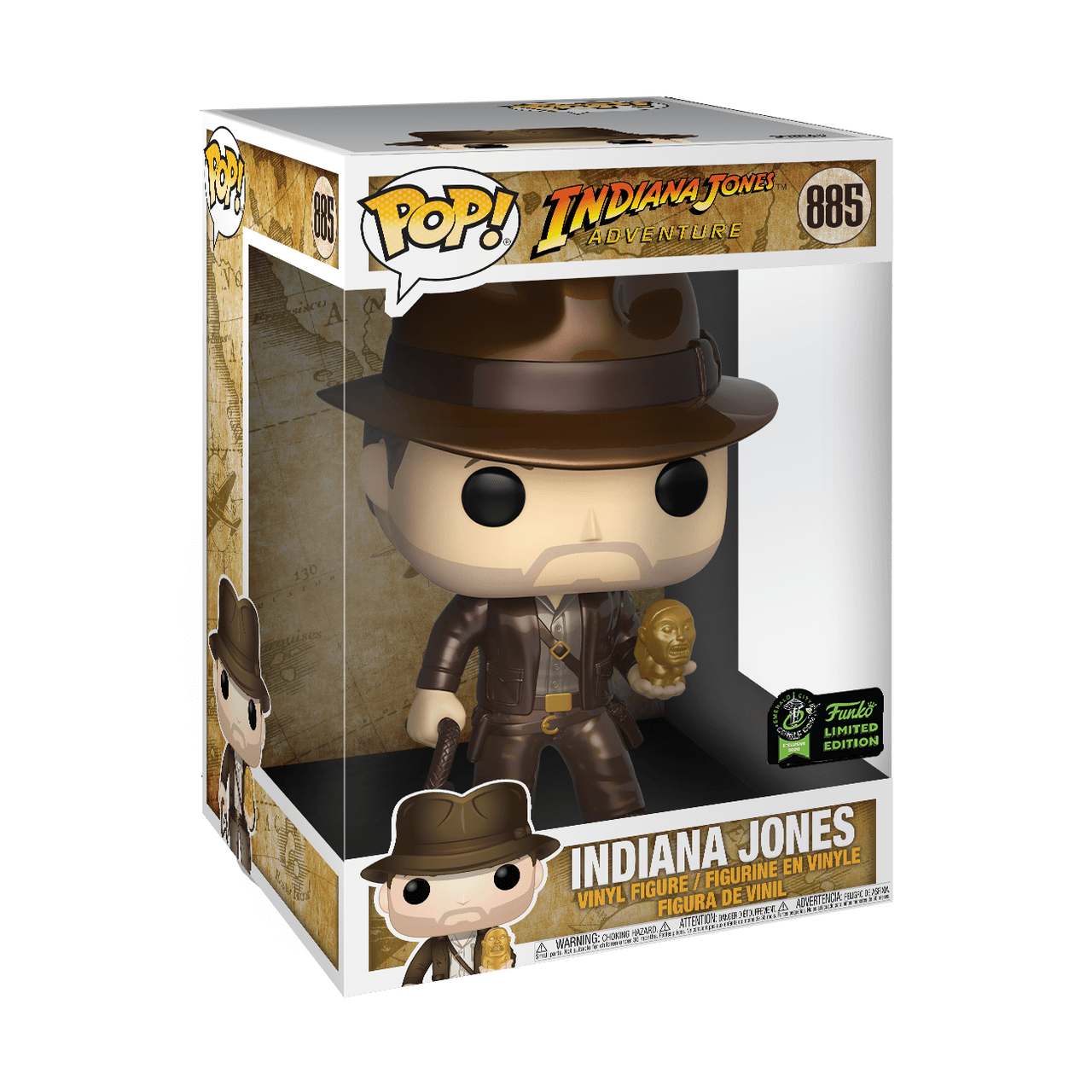 Disney Pop! Vinyl Figure Indiana Jones with Idol Metallic [10 Inch] [ECCC Exclusive] [885] - Fugitive Toys
