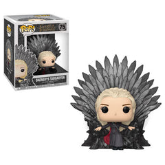 Game of Thrones Pop! Deluxe Vinyl Figure Daenarys Targaryen Sitting on Iron Throne [75]