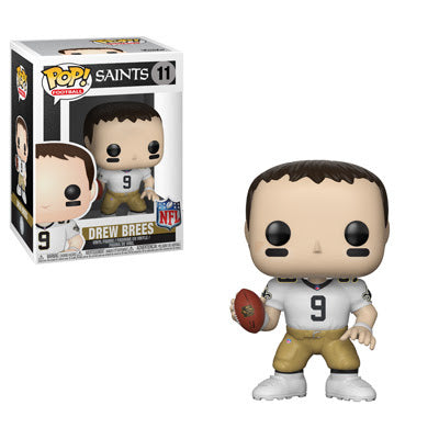 NFL Pop! Vinyl Figure Drew Brees (Road Jersey) [New Orleans Saints] [11] - Fugitive Toys