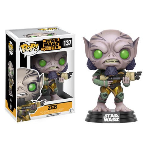 Star Wars Rebels Pop! Vinyl Bobblehead Zeb - Fugitive Toys