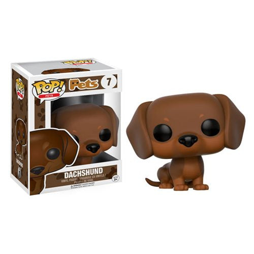 Pets Pop! Vinyl Figure French Dachshund (Brown)