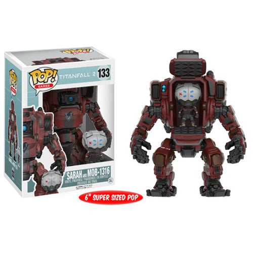 Titanfall 2 Pop! Vinyl Figure Sarah and MOB-1316 Titan Vehicle