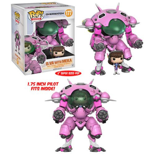 Overwatch Pop! Vinyl Figure D.VA with MEKA [6-Inch]