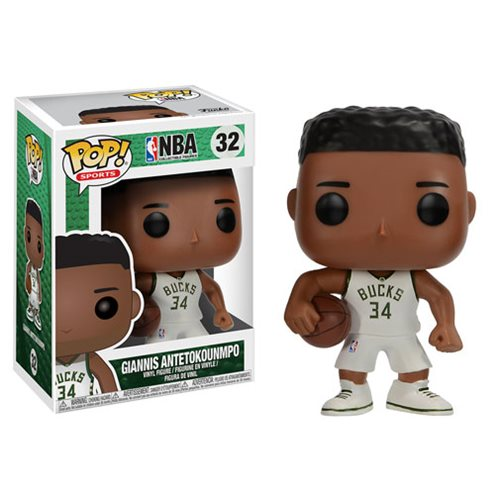 NBA Series 3 Pop! Vinyl Figure Giannis Antetokounmpo (Bucks) [32] - Fugitive Toys