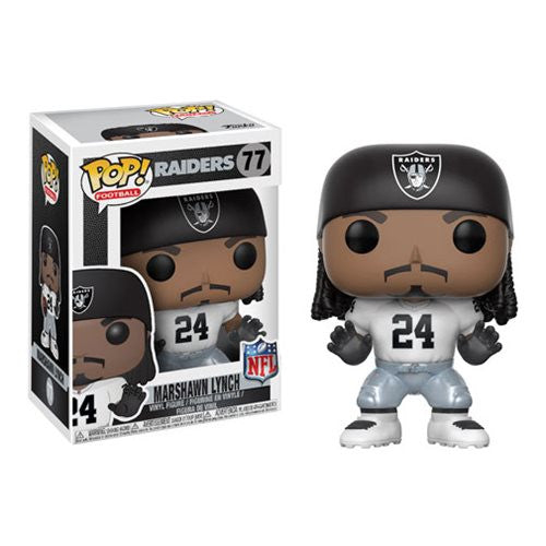NFL Wave 4 Pop! Vinyl Figure Marshawn Lynch (Home) [Oakland Raiders] [77] - Fugitive Toys