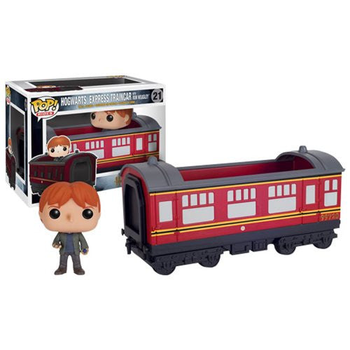 Harry Potter Hogwarts Express Traincar Vehicle with Ron Weasley Pop! Vinyl Figure