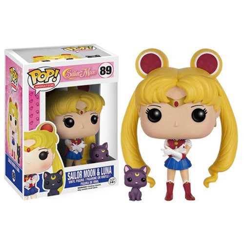 Anime Pop! Vinyl Figure Sailor Moon w/ Luna (Sailor Moon) - Fugitive Toys