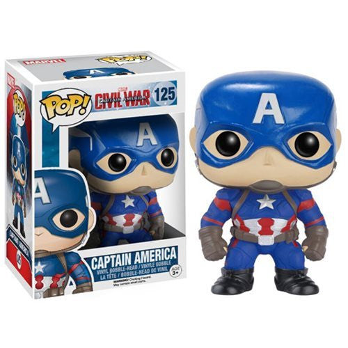 Marvel Pop! Vinyl Figure Captain America (Captain America: Civil War) [125] - Fugitive Toys