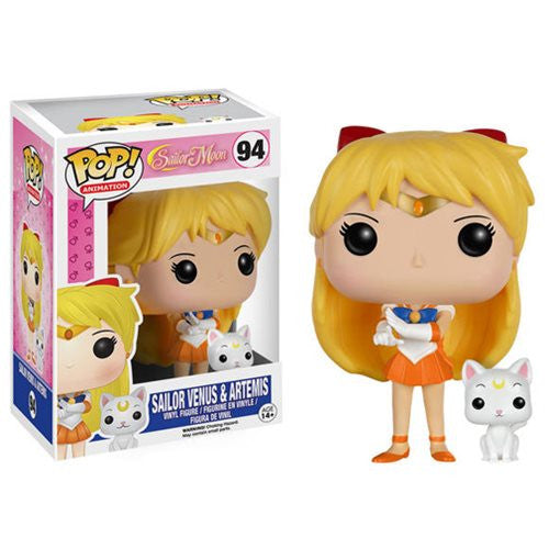 Anime Pop! Vinyl Figure Venus w/ Artemis (Sailor Moon) - Fugitive Toys