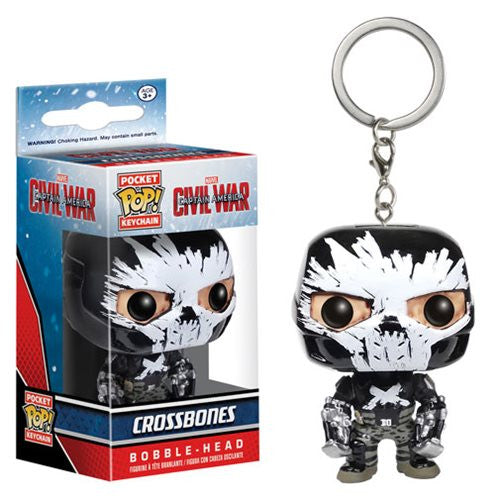 Captain America: Civil War Pocket Pop! Keychain Crossbones - Fugitive Toys