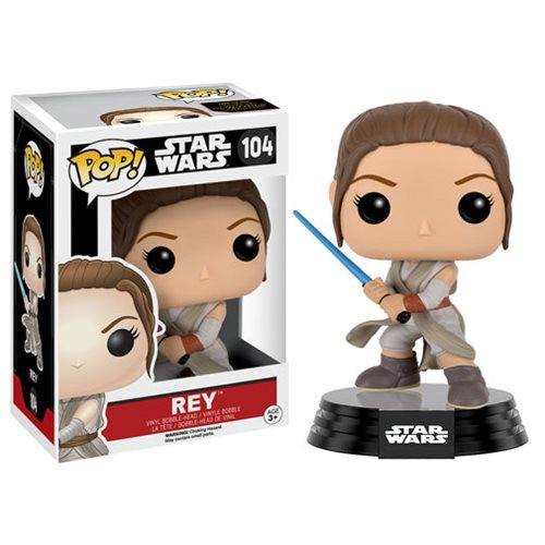 Star Wars Pop! Vinyl Bobblehead Rey w/ Lightsaber [Episode VII: The Force Awakens]