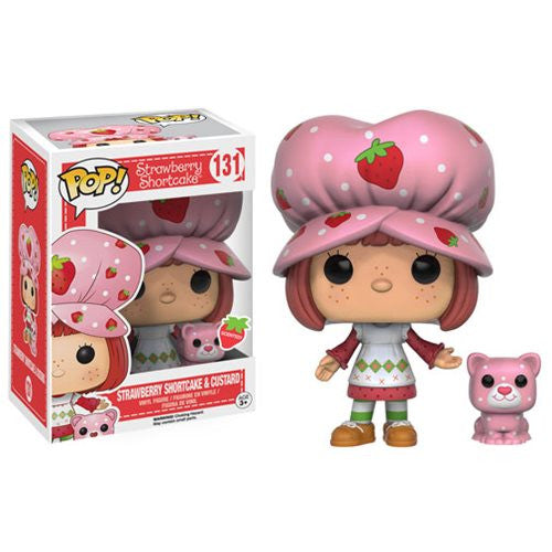 Strawberry Shortcake Pop! Vinyl Figure Strawberry Shortcake & Custard - Fugitive Toys