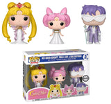 Sailor Moon Pop! Vinyl Sailor Pluto Neo Queen Serenity, Small Lady, King Endymion [3 Pack] - Fugitive Toys