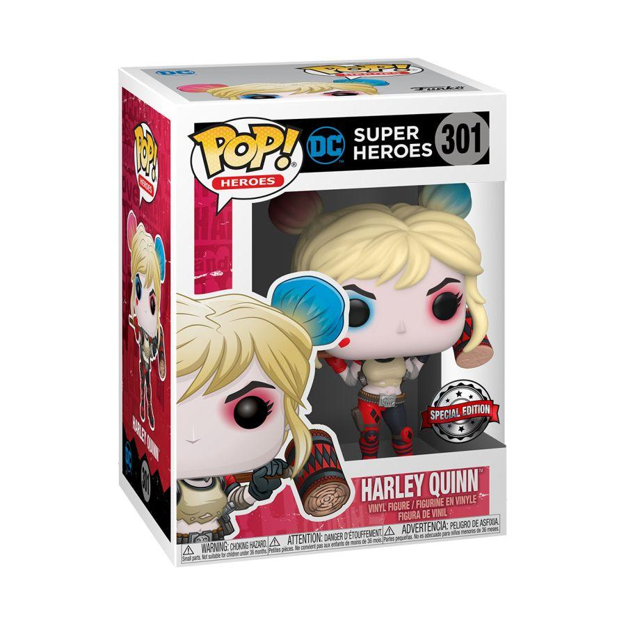 DC Super Heroes Pop! Vinyl Figure Harley Quinn (with Mallet) [301] - Fugitive Toys