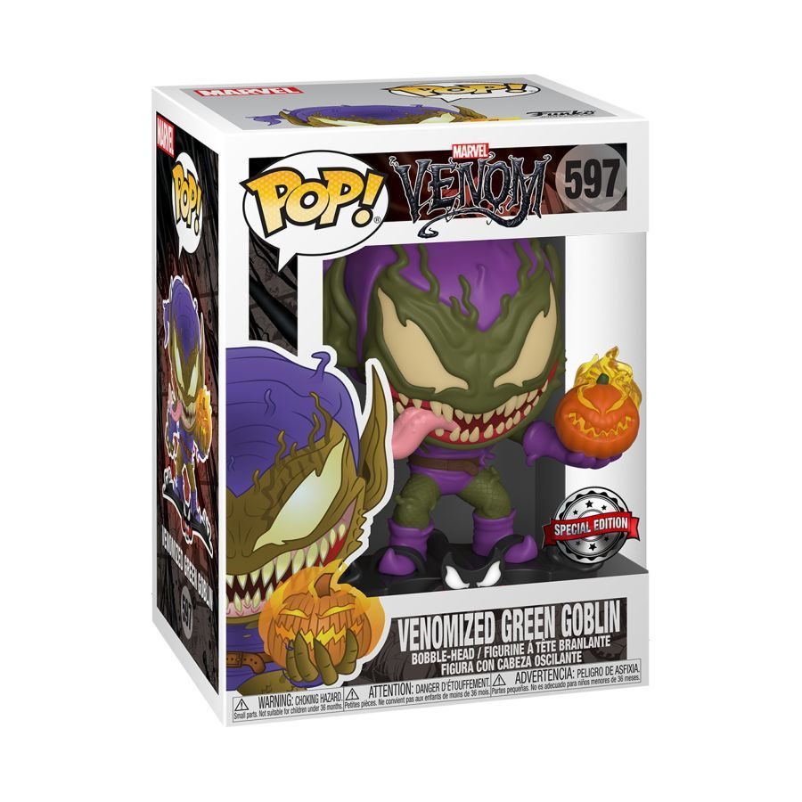 Marvel Venom Pop! Vinyl Figure Venomized Green Goblin [597] - Fugitive Toys