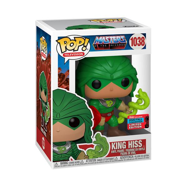 Masters of the Universe Pop! Vinyl Figure King Hiss (2020 NYCC Shared) [1038] - Fugitive Toys