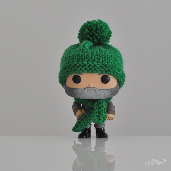 Pop! Apparel Knitted Beanie & Scarf Set [Green]
