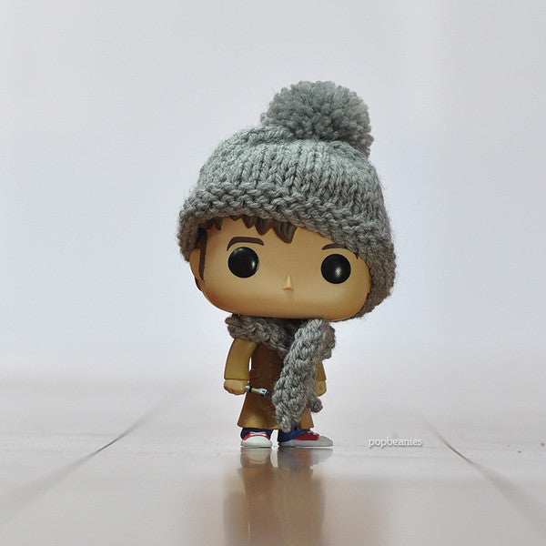 Pop! Apparel Knitted Beanie & Scarf Set [Grey]
