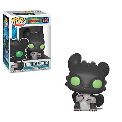 How to Train Your Dragon 3 Pop! Vinyl Figure Night Lights (Black/Green Eyes) [726]