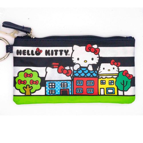 Loungefly x Hello Kitty Striped Houses Zippered Pouch