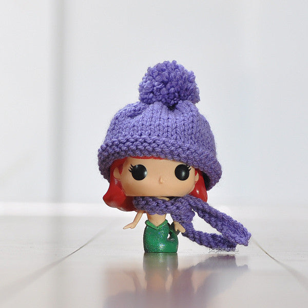 Pop! Apparel Knitted Beanie & Scarf Set [Lavender]