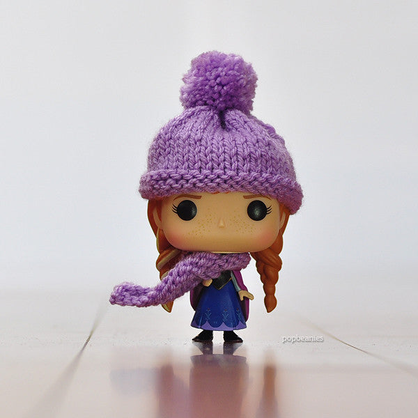 Pop! Apparel Knitted Beanie & Scarf Set [Lilac]