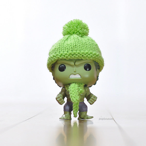 Pop! Apparel Knitted Beanie & Scarf Set [Lime Green]