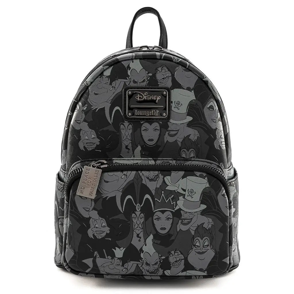 Loungefly x Disney Villains Debossed All Over Print Mini Backpack