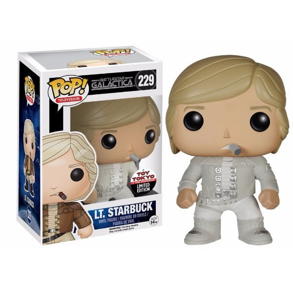 Battlestar Galactica Pop! Vinyl Figure Lieutenant Starbuck [Experiment in Terra Uniform] Toy Tokyo Exclusive - Fugitive Toys