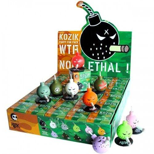"Kidrobot Kozik 1.5"" Mini Bomb Party Fun Pack (Case of 30) - Fugitive Toys"