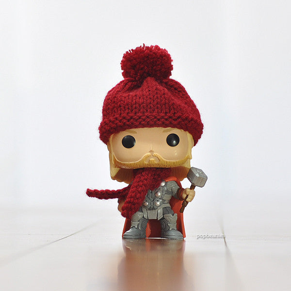 Pop! Apparel Knitted Beanie & Scarf Set [Maroon]