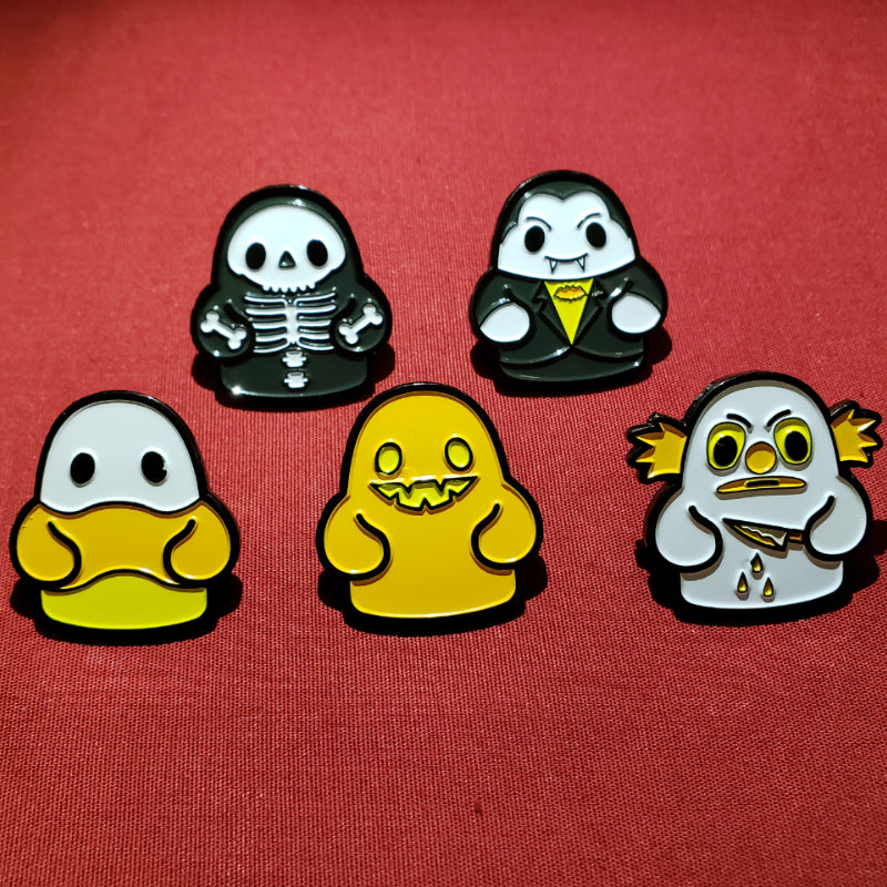 Bimtoy Tiny Ghost Pin [NYCC 2018 Halloween 5 Pack]