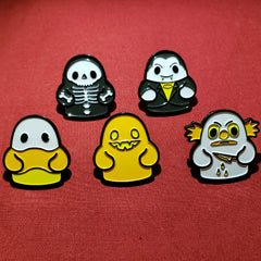 Bimtoy Tiny Ghost Pin [NYCC 2018 Halloween 5 Pack] - Fugitive Toys