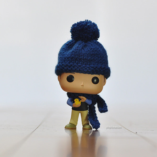 Pop! Apparel Knitted Beanie & Scarf Set [Navy]