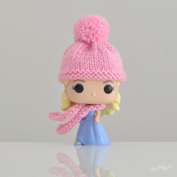 Pop! Apparel Knitted Beanie & Scarf Set [Pink] - Fugitive Toys