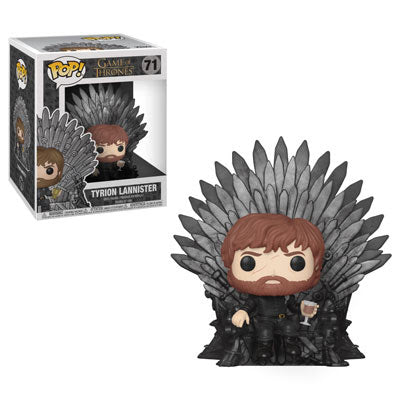 Game of Thrones Pop! Deluxe Vinyl Figure Tyrion Lannister Sitting on Iron Throne [71] - Fugitive Toys