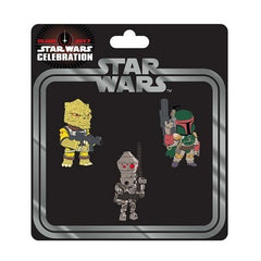 Star Wars Celebration Bounty Hunter Pin 3-Pack - Fugitive Toys