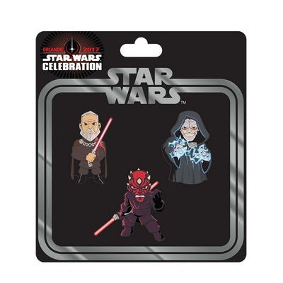 Star Wars Celebration Sith Pin 3-Pack