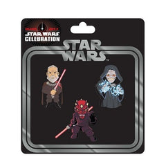 Star Wars Celebration Sith Pin 3-Pack - Fugitive Toys