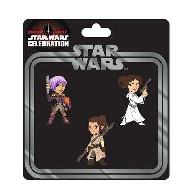 Star Wars Celebration Women of Star Wars Pin 3-Pack - Fugitive Toys