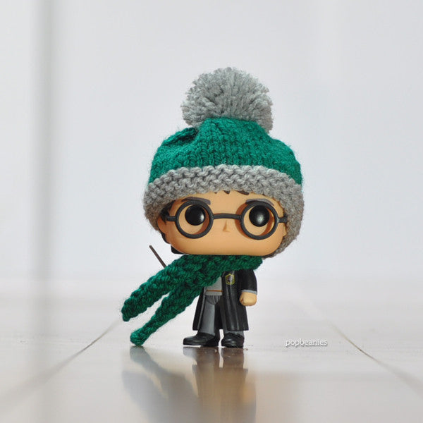 Pop! Apparel Knitted Beanie & Scarf Set [Slytherin]