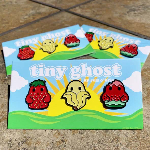 Bimtoy Tiny Ghost Pins [Fruit 3 Pack] [SDCC 2019]