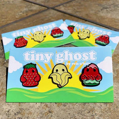Bimtoy Tiny Ghost Pins [Fruit 3 Pack] [SDCC 2019] - Fugitive Toys