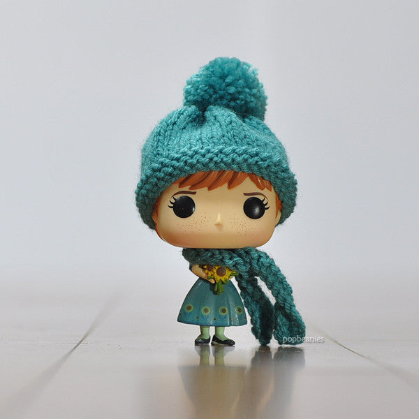 Pop! Apparel Knitted Beanie & Scarf Set [Teal]