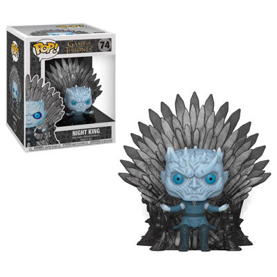 Game of Thrones Pop! Deluxe Vinyl Figure Night King Sitting on Iron Throne [74] - Fugitive Toys
