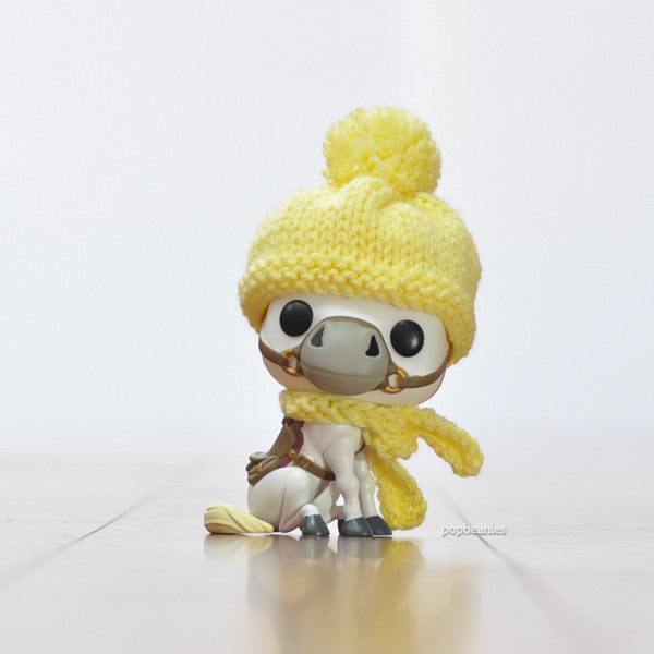 Pop! Apparel Knitted Beanie & Scarf Set [Yellow]